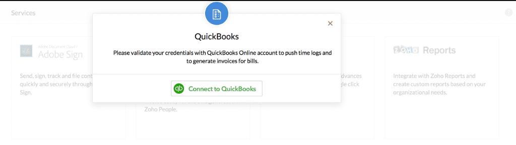 Zoho QuickBooks Integration